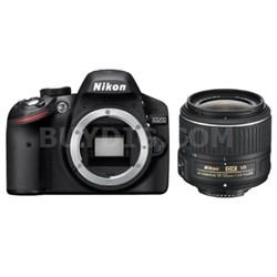 Refurbished D3200 24.2MP 1080P D-SLR Camera with 18-55mm VR II Lens