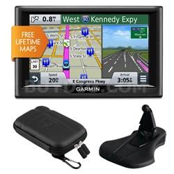 "nuvi 58LM 5"" Essential Series 2015 GPS System Lifetime Maps Mount & Case Bundle"