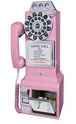 1950's Style Nostalgia Pay Phone - CR56-PI (Pink)