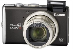 PowerShot SX200IS 12MP 12x Zoom Digital Camera w/ 720P HD Video Recording & HDMI