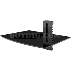 Single Glass Media Shelf for TV Components - AS-100