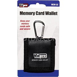 Memory Card Wallet - media storage bi-fold case for three memory cards