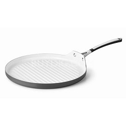 "13"" Hard-Anodized Ceramic Nonstick Round Grill Pan - 1882021"