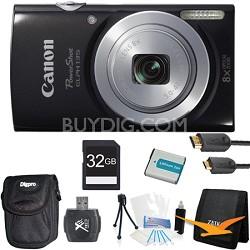 PowerShot ELPH 135 16MP 8x Optical Zoom Digital Camera Black Kit