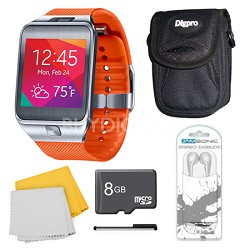 Gear 2 Orange Watch, Case, and 8GB Card Bundle