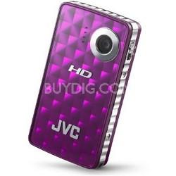GC-FM1V Picsio Pocket Flash Memory 1080p Camcorder (Sparkling Purple)