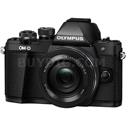 OM-D E-M10 Mark II Mirrorless Digital Camera 14-42mm EZ Lens (Black) Refurbished