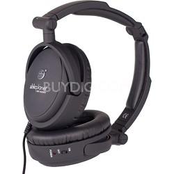 NC200B True Fidelity Foldable Active Noise Canceling Headphones (Black)