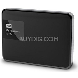 My Passport for MAC 2 TB Hard Drive, Black/Silver