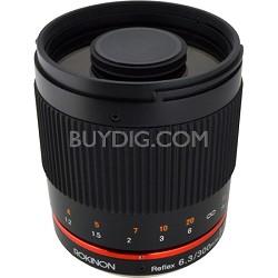 300mm F6.3 Mirror Lens for Fuji X (Black)
