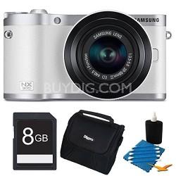 NX300 20.3 MP Digital Camera White 8GB Kit