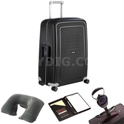 "S'Cure 28"" Spinner Luggage Black 49308-1041 w/ Travel Kit"