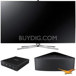 """UN46F7500 - 46"""" 1080p 240hz 3D Smart LED HDTV with SHAPE Audio Bundle - Black"""