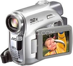 "GR-D370US Mini DV Camcorder, 32x Optical Zoom, SD/MMC Card Slot, 2.5"" LCD"