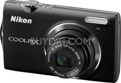 COOLPIX S5100 12MP Slim Black Digital Camera