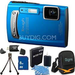 Tough TG-310 14 MP Water/Shock/Freezeproof Digital Camera Blue 8GB Kit