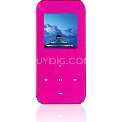 """4 GB MP3 Video Player with 1.5"""" LCD, FM Radio, Recorder (Pink)"""