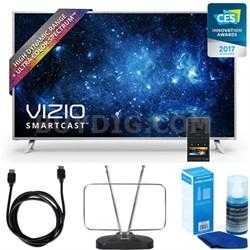 "P55-C1 SmartCast 55"" UHD HDR Home Theater Display TV w/ HDTV FM Antenna Bundle"
