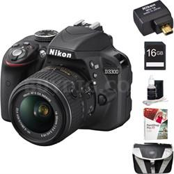 D3300 24.2 MP DSLR w/ 18-55 VR II Lens + WiFi Adapter + PaintShop Pro X9 Kit