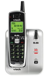 CS5111 - 5.8GHz Cordless Phone with Caller ID (Silver/Black)