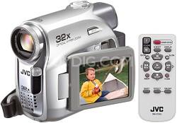 "GR-D395US Mini DV Camcorder, 32x Optical Zoom, SD/MMC Card Slot, 2.5"" LCD"