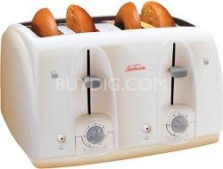 3823-100 4-Slice Wide Slot Toaster, White