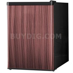 2.4 Cubic Feet Single Reversible Wood Door Compact Refrigerator - WHS-87LWD1