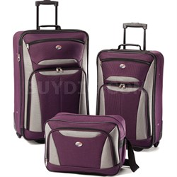 Fieldbrook II Three-Piece Luggage Set (Purple/Grey) - OPEN BOX