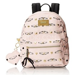 Signature Studded Backpack (Blush)