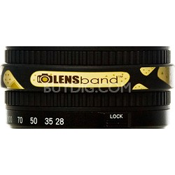 Stop Zoom Creep for One Size Fits All Lens - Band Aid w/ Black Band