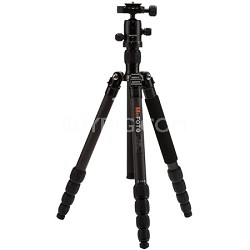C1350Q1K Roadtrip Carbon Fiber Travel Tripod Kit - Black