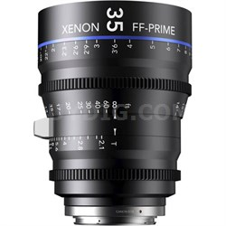 35MM Xenon Full Frame 4K Prime XN 2.1 / 35 Feet Lens for Canon EOS Mounts