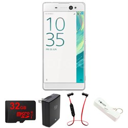 Xperia XA Ultra 16GB 6-inch Smartphone, Unlocked - White w/ Headphone Bundle