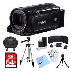 VIXIA HF R72 Camcorder, 64GB Card, and Accessories Bundle