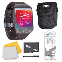 Gear 2 Neo Grey Watch, Case, and 8GB Card Bundle