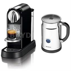 Citiz Espresso Maker with Aeroccino Plus Milk Frother Black