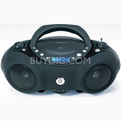 Portable CD Boombox with AM/FM Radio (MP3851BLK)
