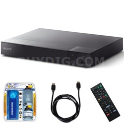 BDP-S6700 4K Upscaling 3D Streaming Blu-ray Disc Player w/ Accessory Bundle
