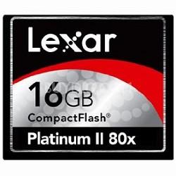 16 GB Platinum II CF Memory Card 80X  LCF16GBSBNA080
