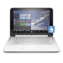 "HP Stream 11-p110nr x360 Convertible 11.6"" HD Touchscreen Tablet PC - Silver"