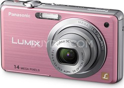 DMC-FH3P LUMIX 14.1 Megapixel Digital Camera (Pink)