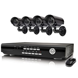 Alpha 4 Channel DVR & 4 Indoor/Outdoor Cameras