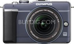 PEN E-PL1 with 14-42mm Lens Digital SLR Kit (Blue) - REFURBISHED