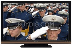 AQUOS LC65E77UM 65-Inch 1080p 120Hz LCD HDTV with Gold Bezel