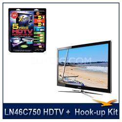 LN46C750 - 3D HDTV + High-performance HDTV Hook-up & Maintenance Kit