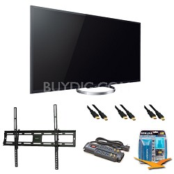 XBR65X850A 65-Inch 4K Ultra HD 120Hz 3D LED HDTV Wall Mount Bundle
