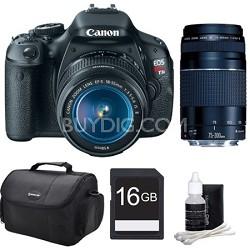 EOS Rebel T3i 18MP Digital SLR Camera with 18-55 & 75-300 Lenses - Bundle Deal