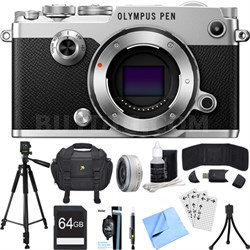 PEN-F 20MP Mirrorless Micro Four Thirds Digital Camera w/ 17mm Lens Bundle