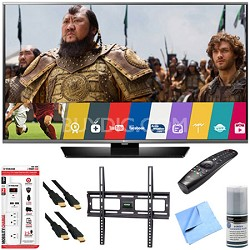 65LF6300 - 65-Inch 120Hz LED Smart HD TV w/ Magic Remote Mount & Hook-Up Bundle