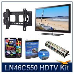 "LN46C550 - 46"" HDTV + Hook-up Kit + Power Protection + Calibration + Tilt Mount"
